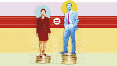 Gender pay credit alamy